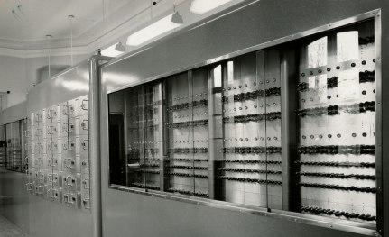 Sveriges första dator, Besk, var sin tids snabbaste. Nu står den på Tekniska museet i Stockholm. Foto: Computer History Museum.