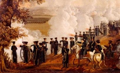 Det svenska artilleriet öppnar eld under slaget vid Leipzig, som pågick den 16–19 oktober 1813 några mil sydväst om Berlin. Med en halv miljon stridande var detta ett av världens dittills största slag. Drabbningen slutade med att de allierade ryska, österrikiska, preussiska och svenska trupperna besegrade Napoleons franska soldater. Bild: Historisk bildbyrå.