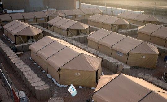 I Camp Nobel bor 250 svenska militärer under sex månader långa rotationer. Bild: Malin Palm.