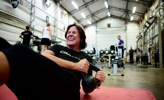 Petra tränar så fort hon har tid, ofta flera gånger om dagen. Bild: Malin Palm.