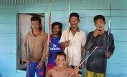 Några av de bästa harpunfiskarna i byn Sampela. Bild: Erika Schagatay.